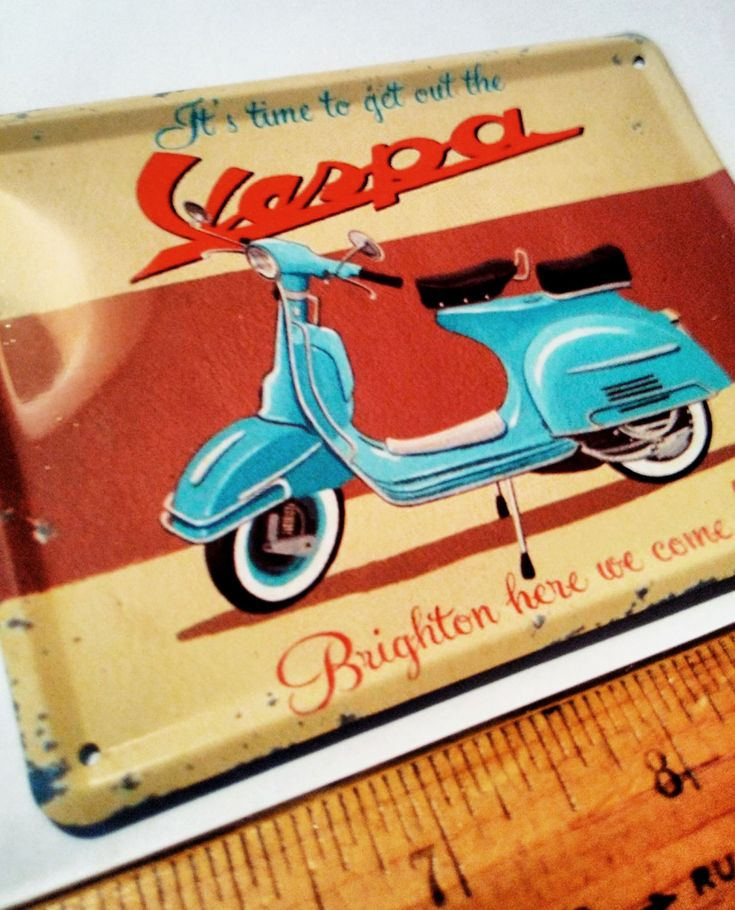 Large Vespa Piaggio Scooter Motorcycle Fridge Magnet