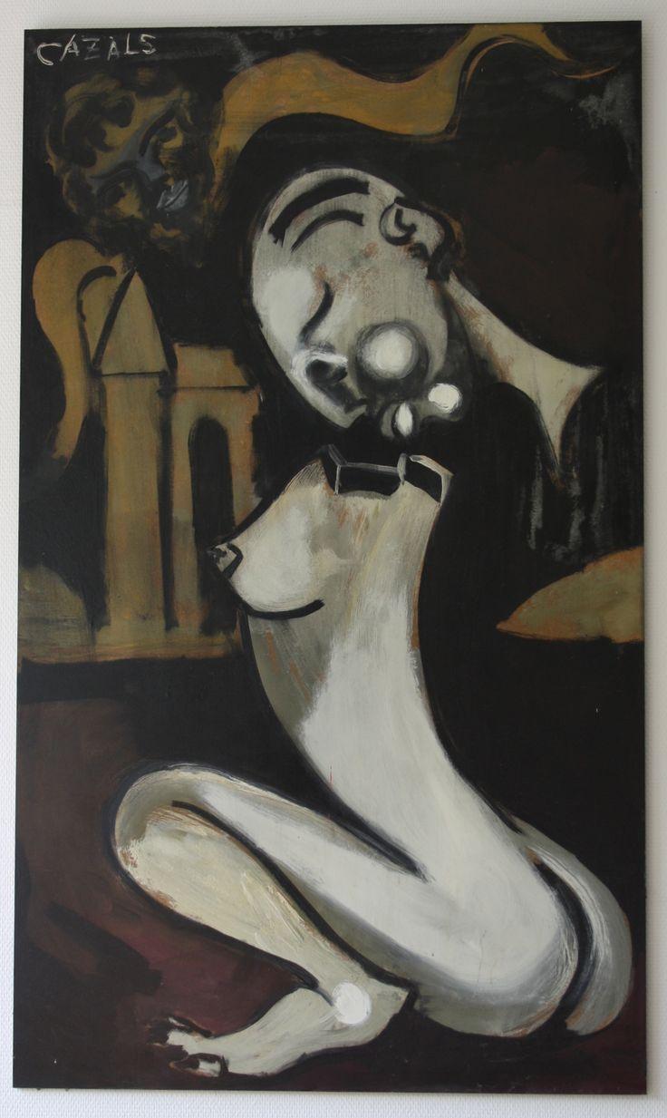 """""""Nächtliche Vision"""", 2005, 82 x 151,5 cm, Mischtechnik auf Hartfaserplatte, 2950,- EURO. Anfragen an: Werkeverwaltung Carlo Cazals - Britta Kremke Mail: b.kremke@kremke.de Tel. 038722-227-14"""