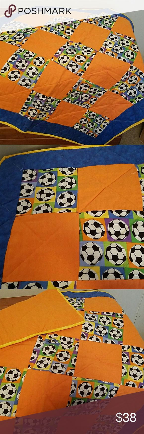 """Soccer ball baby blanket Handmade soccer ball baby blanket/play pad. Flannel material.  Size: 31""""x64"""" Accessories"""