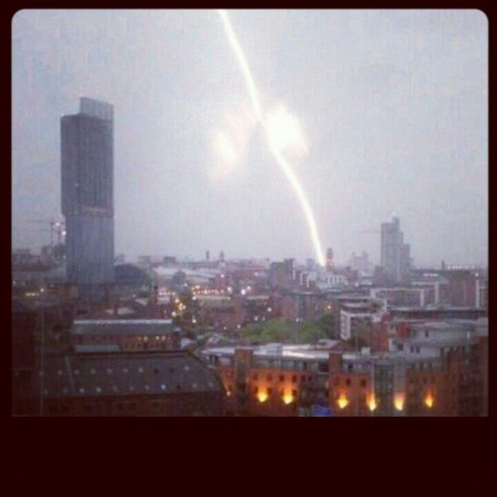 Thunder storm over manchester