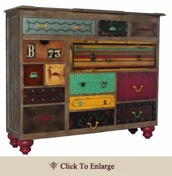 Totally rockin' dresser.......LOVE this!!!!!!! Totally gonna build one!!!