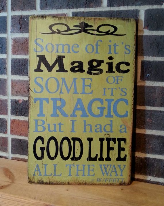 """Jimmy Buffett - He Went to Paris - """"Some of it's magic, Some of it's tragic"""" - Hand Painted Rustic Wooden Sign on Wood"""