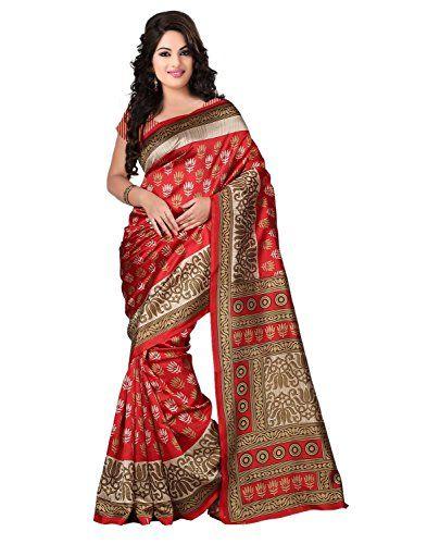 Trendz Bhagalpuri Cotton Silk Saree(TZ_Kasturi_Red) Check more at http://www.indian-shopping.in/product/trendz-bhagalpuri-cotton-silk-sareetz_kasturi_red/