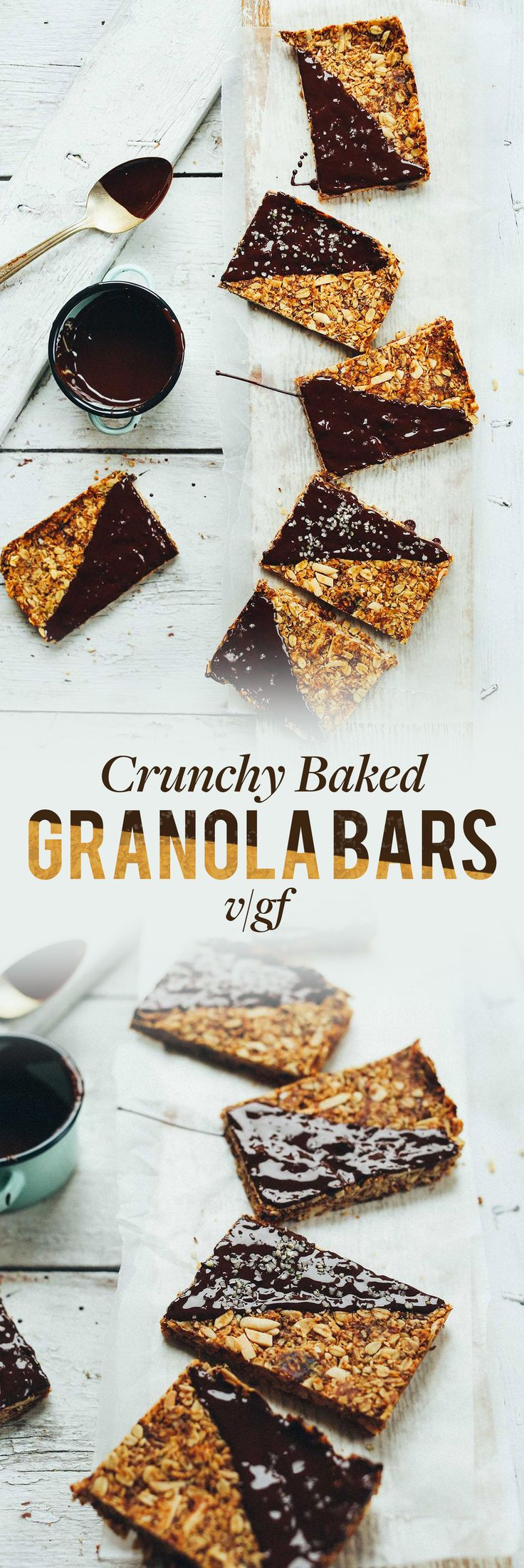 THE BEST Crunchy Baked Granola Bars! Naturally sweetened, 9 basic ingredients, SO delicious! #vegan #glutenfree - Minimalist Baker