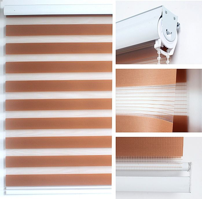Zebra Roller Blind / Light Filtering Sheer Shade (CUSTOM MADE - Tell Us Dimensions of Your Windows) - Inside and Outside Mount