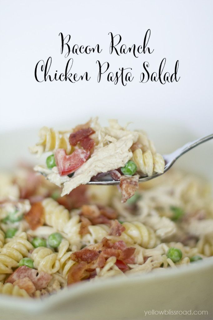 Bacon Ranch Chicken Pasta Salad