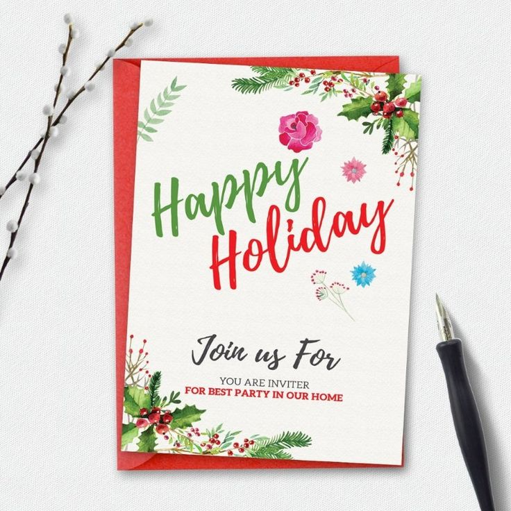 The 25+ best Holiday party invitation template ideas on Pinterest ...