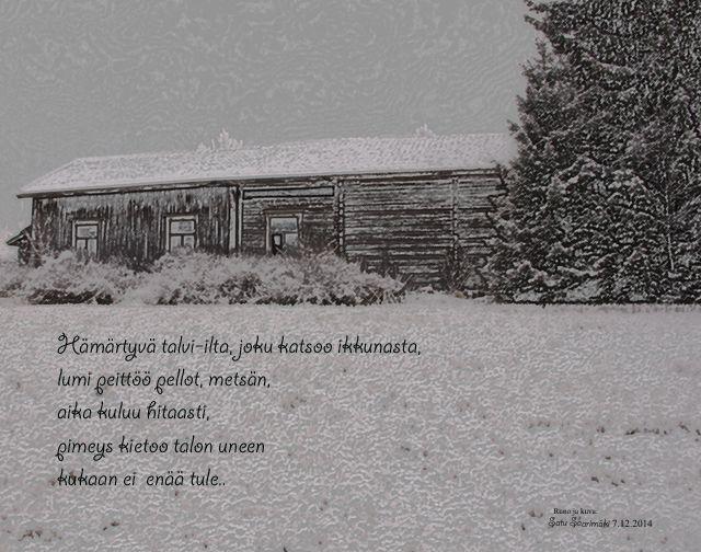 Runo ja kuva: Satu Saarimäki 2014