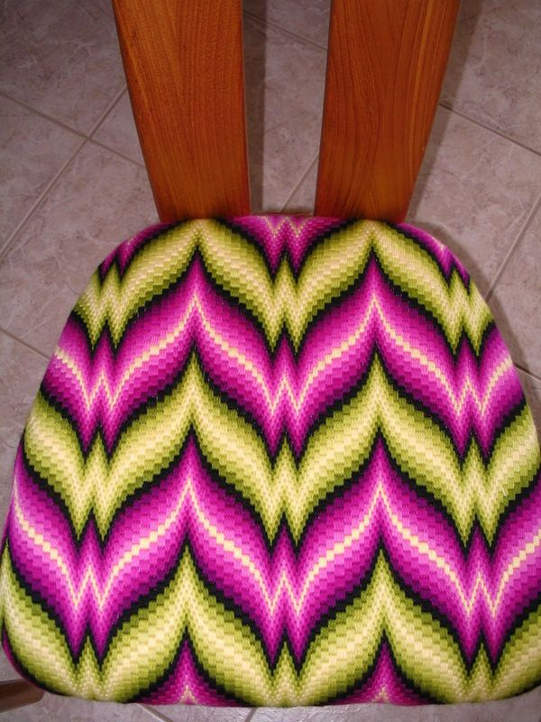 bargello needlepoint dining room chair