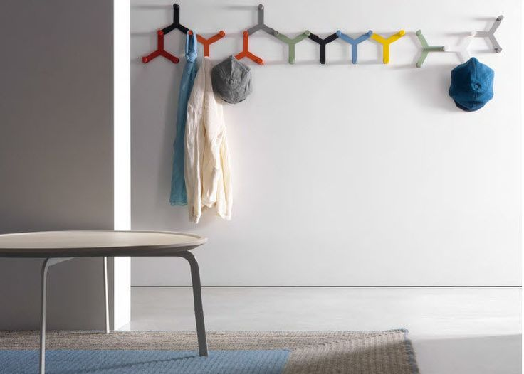 Wall-mounted coat rack / contemporary / metal - CORAL by Enzo Berti - Flai