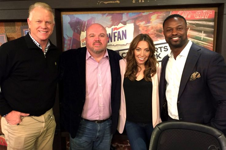 ` The congratulations from Mike Francesa may not come too quickly. WFAN officially introduced the trio — Chris Carlin, Bart Scott and Maggie Gray — replacing the longtime host, using Boomer Esiason…