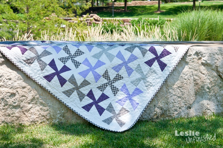 A Sweet Pinwheel Quilt: Sweet Pinwheels, Pinwheels Quilts In, Baby Quilts, Leslie Unfinished, Quilts In Purple, Summer Rambl, Quilts Ideas, Pinwheels Quiltin, Quilts Inspriat