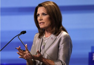 """I think Bachmann did great in answering this tough question about being a """"Submissive Wife""""!"""