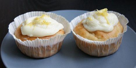 Fedtfattige citron cupcakes