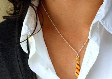 Harry Potter Gryffindor Tie Necklace.