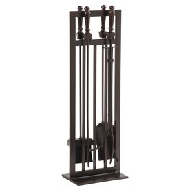 allen + roth 5-Piece Craftsman-Style Fireplace Tool Set | Lowe's