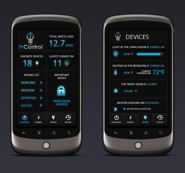 InControl design contest - Design home automation app to control lights  Mobile app design #69