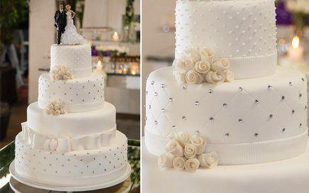 Bolo Fake, em biscuit para casamento