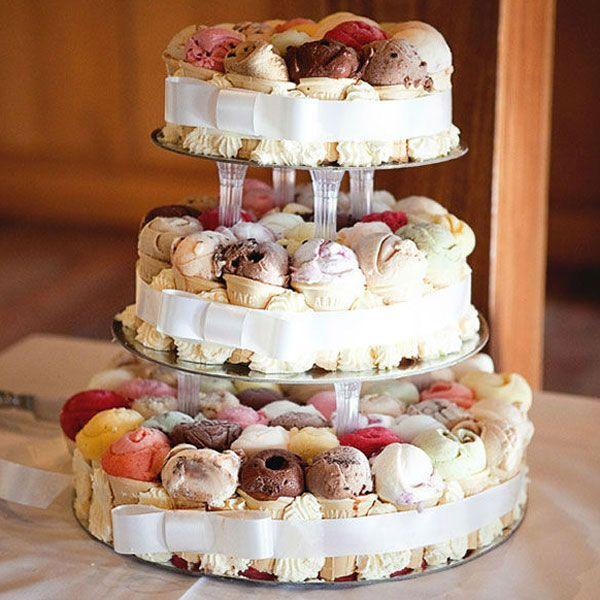 ice cream wedding cake