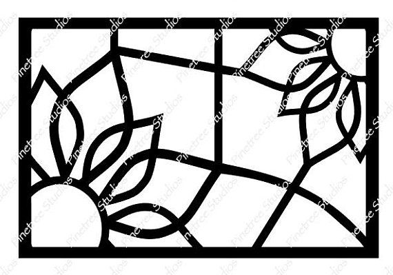 Stained Glass Sunflower SVG Digital Download / Cuttable