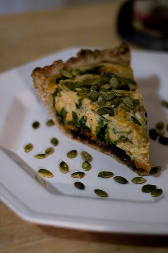 pumpkin, sweet potato, spinach quiche= ALL OF MY FAVS