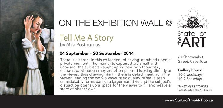 On the Exhibition Wall at StateoftheART 04.09.2014 - 20.09.2014, 61 Shortmarket Street, Cape Town.