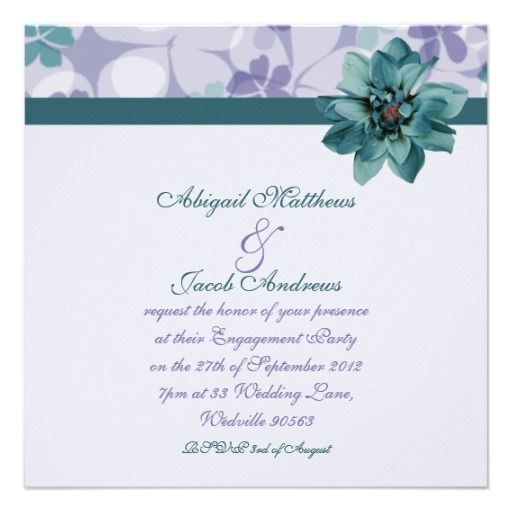>>>Low Price Guarantee          Pretty Purple & Teal Blue Flower Engagement Invite           Pretty Purple & Teal Blue Flower Engagement Invite online after you search a lot for where to buyHow to          Pretty Purple & Teal Blue Flower Engagement Invite lowest price Fast Ship...Cleck See More >>> http://www.zazzle.com/pretty_purple_teal_blue_flower_engagement_invite-161281976443411959?rf=238627982471231924&zbar=1&tc=terrest
