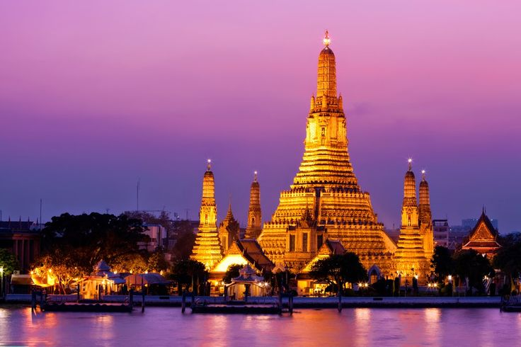 Wat Arun (Temple of Dawn – Named after the Indian God of Dawn) The popularity of this temple is not because of its riverside location, but its design is way different from other temples in Bangkok.  read more @ http://www.worldatglance.com/2014/12/7-must-visit-places-of-bangkok.html