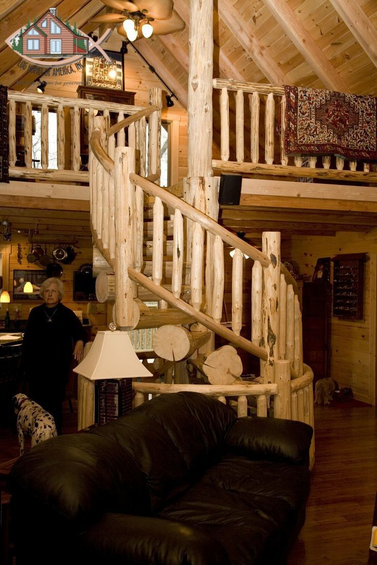 11 best Staircases images on Pinterest | Log cabins, Log homes and ...