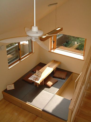 This could be a neat design for the 'room' off the side of the main living room.