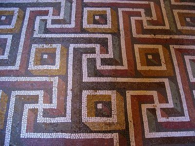 The Greek key pattern goes so far back in history and shows up in so many different civilizations that it is impossible to say for sure where it originated. The ancient Greeks probably derived it from the early inhabitants of Crete, the Minoans who probably borrowed it from the Egyptians with whom they had frequent trade contacts.