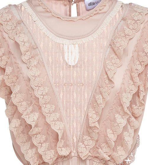 Alice McCALL - Ballet Soft Pink Desire Spotted Mesh Midi Dress