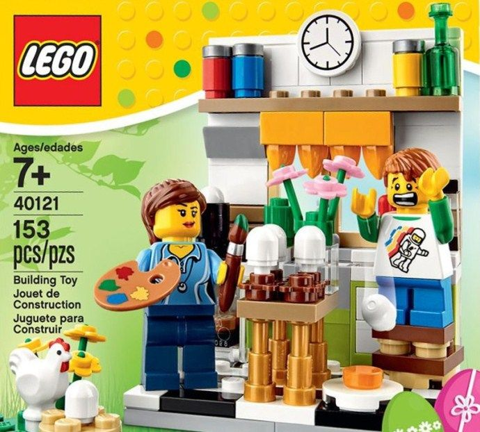 LEGO 40121-Seasonal Easter Egg Decorating set. Available at LEGO Online Shop or LEGO stores coming soon in April 2015.