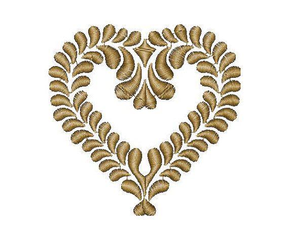 Heart, love, Valentine, machine embroidery design