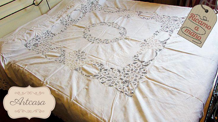 Copriletto coperta estiva  pizzo e ricami a mano puro cotone matrimoniale ecrù | Casa, arredamento e bricolage, Letto: lenzuola e biancheria, Trapunte e copriletti | eBay!