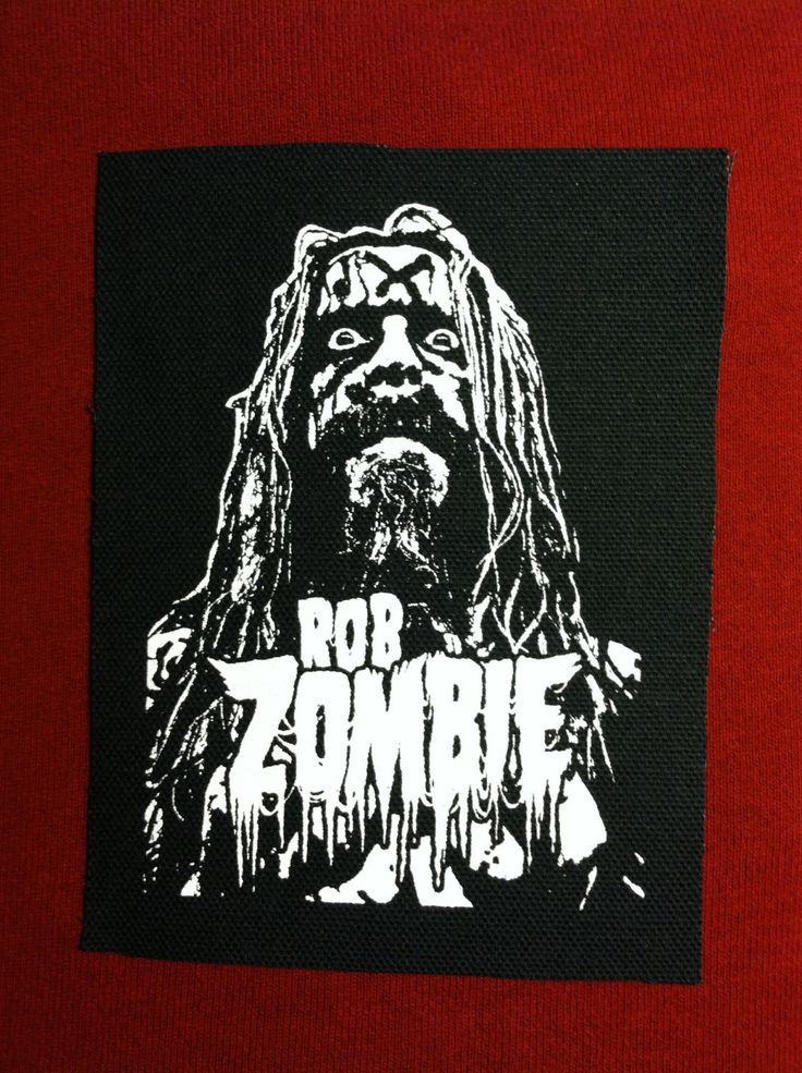 Rob Zombie Cloth Punk Patch by EvilThreadCustoms on Etsy