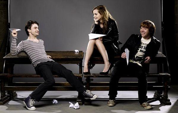 Daniel Radcliffe, Emma Watson et Rupert Grint - Harry Potter