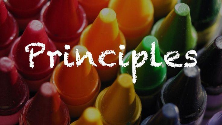 Video explaining the Principles of Design: Balance, Unity, Movement, Pattern, Emphasis, Rhythm, Contrast