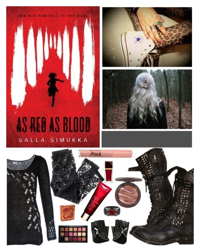 """""""Date with a Book"""" by elliewriter ❤ liked on Polyvore featuring Kat Von D, H&M, Too Faced Cosmetics, Tom Ford, Huda Beauty and DateWithABook"""