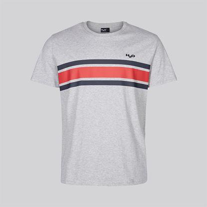 H2O Sportswear - Gilleleje Tee, Grey mel/Navy/Raspberry
