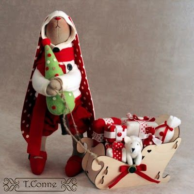 Christmas doll by T. Conne.
