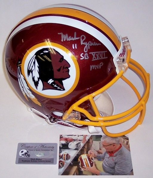 Mark Rypien Autographed Hand Signed Washington Redskins Authentic Helmet