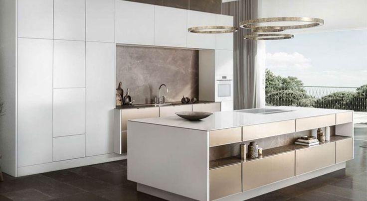 Küchenschränke mit Beton Optik passen toll zu Edelstahl und - küchenschränke nach maß