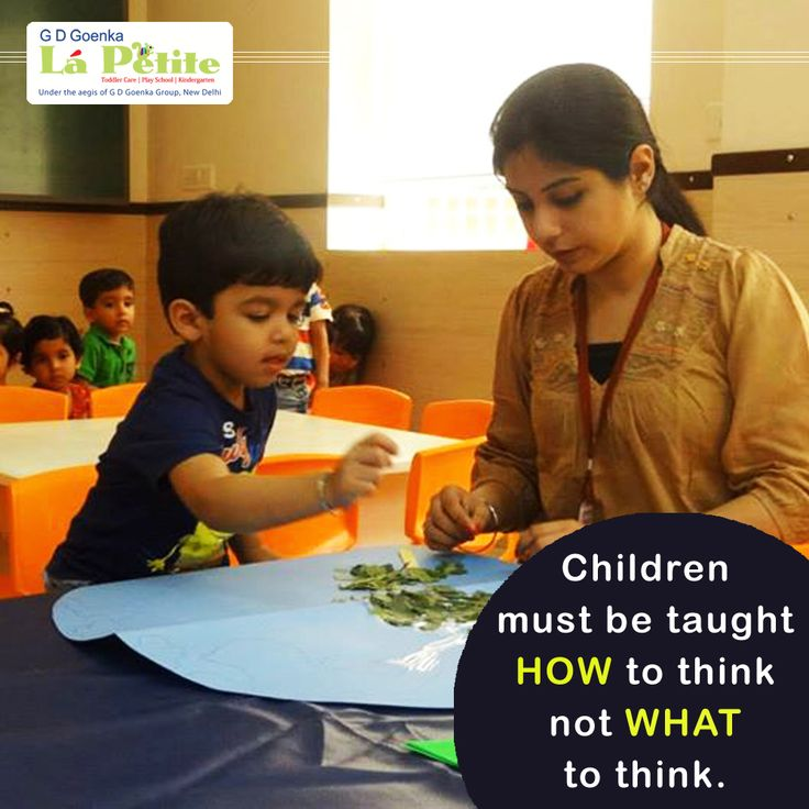 That is what we are doing at GD Goenka Lá Petite Montessori Preschool, helping our children grow their thinking capability and decision making ability. #Montessori #PreSchool