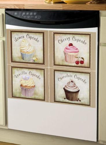 Cupcake Dishwasher Cover Cupcake Kitchen Decorkitchen Themeskitchen