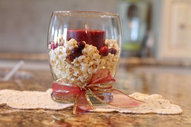 Centrotavola natalizi pop corn