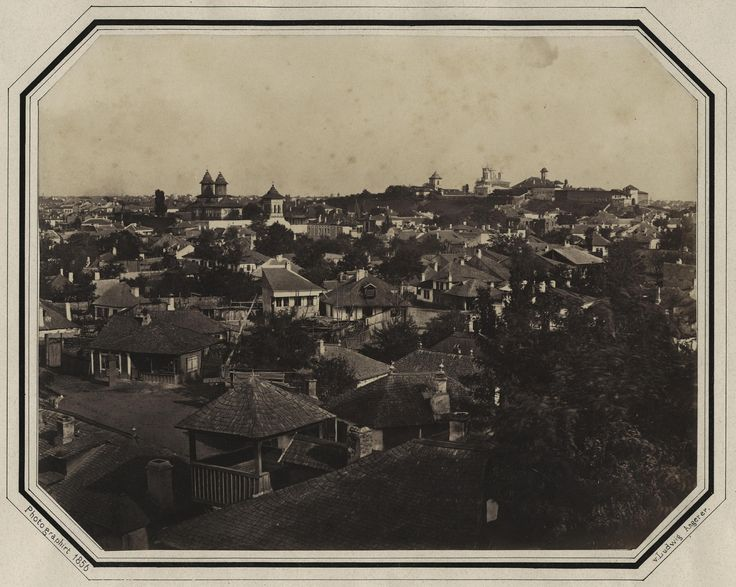 Ludwig Angerer - Antim Slum (Mahalaua Antim), Bucharest, 1856