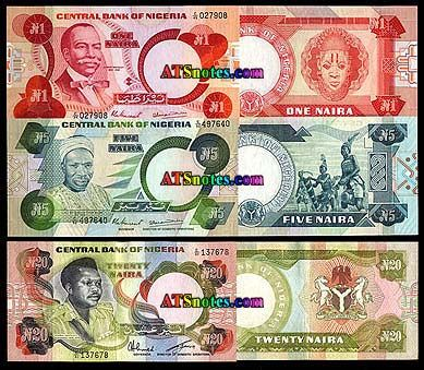 niger currency | ... banknotes - Nigeria paper money catalog and Nigerian currency history