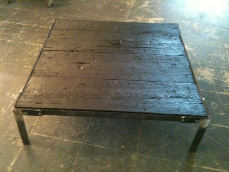 table basse en bois br l de cr ateur tables basses pinterest tables basses en bois brule. Black Bedroom Furniture Sets. Home Design Ideas