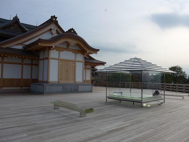 "Glass ""Hikari"" Tearoom. 将軍塚青龍殿、ガラスの茶室 - 朝顔"